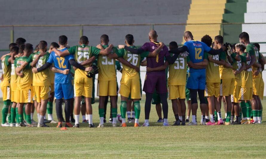 Equipe do Paragominas na concentração para voltar a vencer na Série D