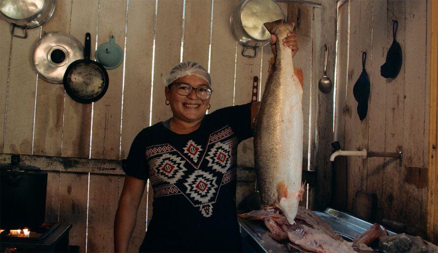Paula Cristine, moradora da Reserva Extrativista Soure, no Marajó.