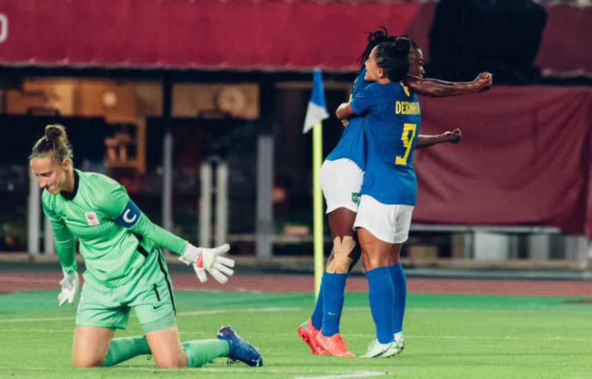 Imagem ilustrativa da notícia: Jogão no futebol feminino! Brasil empata com Holanda: 3 a 3