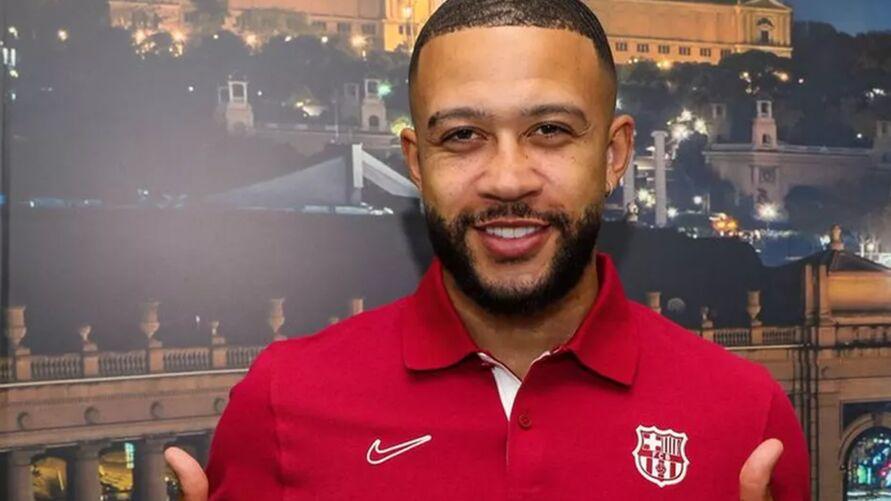 Depay chega ao Barça.