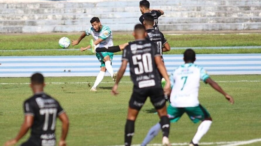 Jogo entre paysandu e Manaus pela Copa Verde 2021.