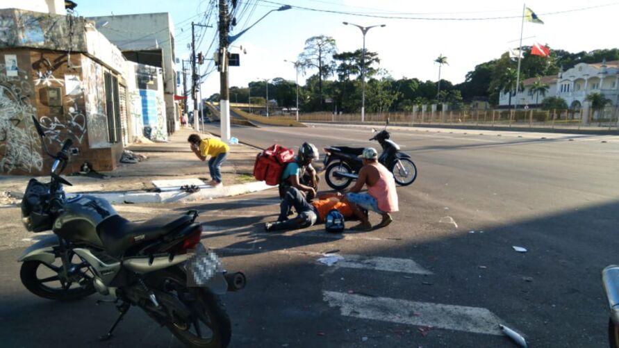 Foto mostra fluxo tranquilo na avenida Almirante Barroso, o que não foi suficiente para evitar acidentes na tarde deste domingo (01)