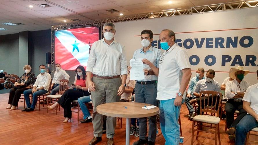 Governador Helder Barbalho e o prefeito de Marabá, Sebastião Miranda, garantiram uma obra essencial para a região
