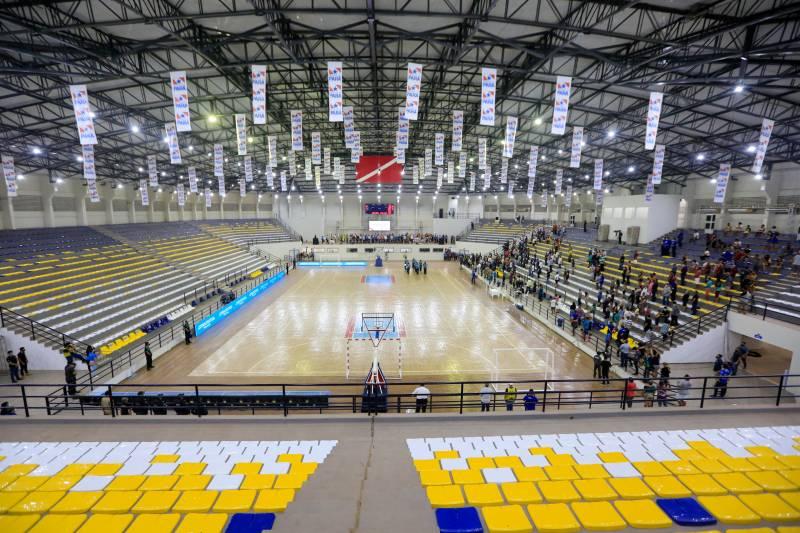Arena Estadual que receberá em julho jogos da competição nacional de futsal