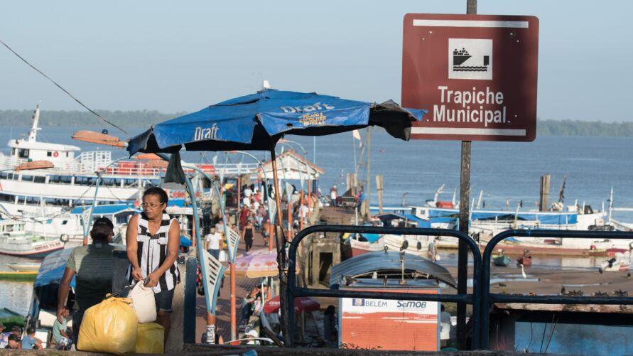 Porto de Icoaraci passa por reformas atualmente.