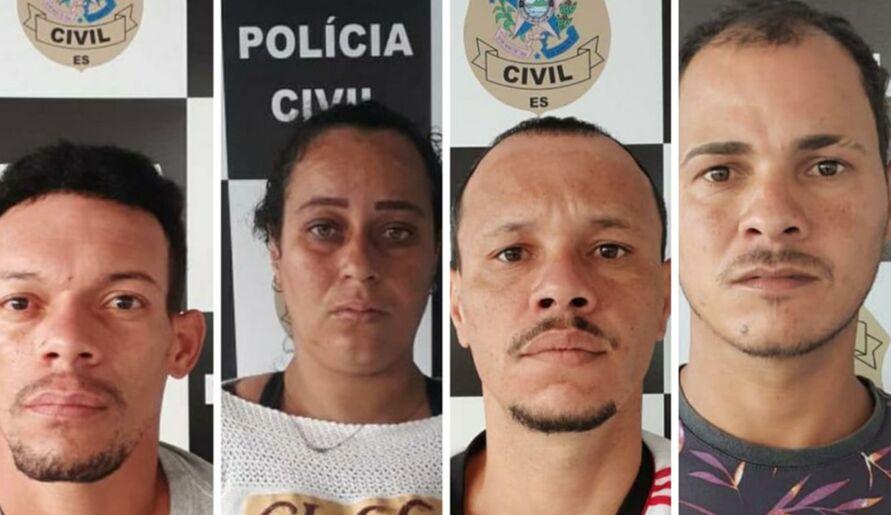 André Luiz, Patrick Alvarenga, Márcia dos Santos e Jocimar Ferreira foram presos.