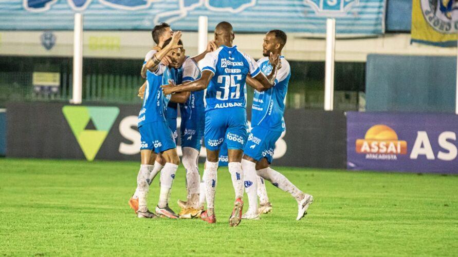 Comemoração dos jogadores do Paysandu após vitória no último sábado