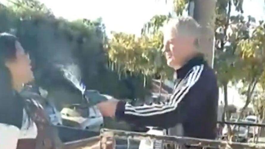 Vídeo foi gravado por uma moradora da cidade
