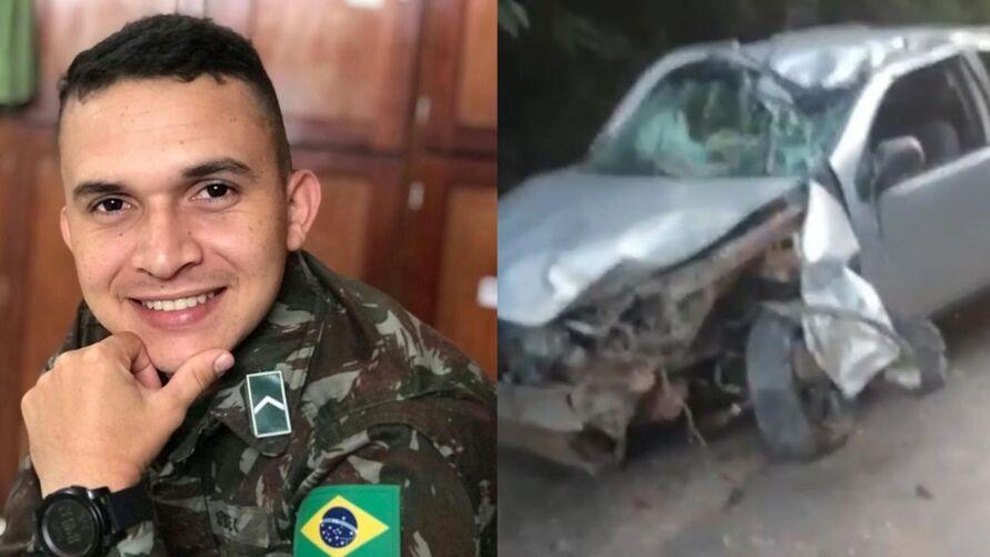 Jovem militar dirigia um Fiat Strada quando sofreu o acidente