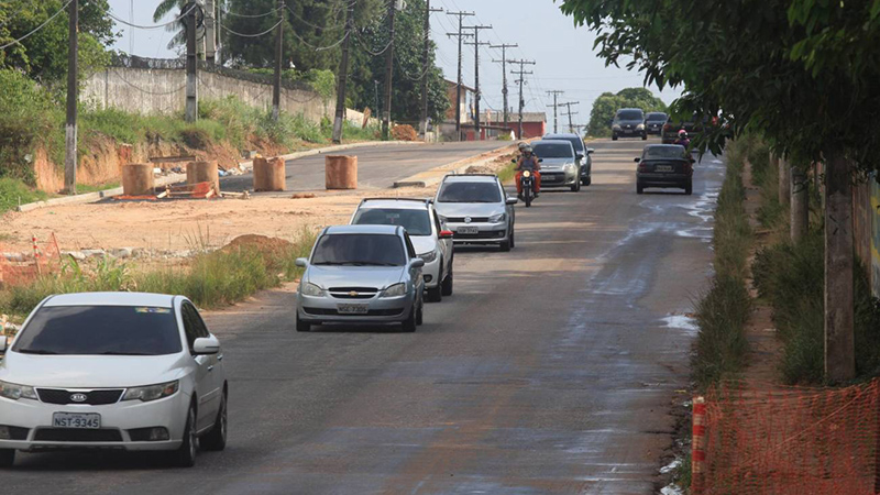 Rua da Yamada (atual Bruno Sechi) passa por obras