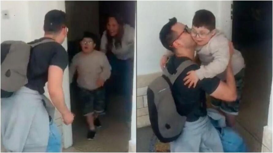 O reencontro de pai e filho tem emocionado