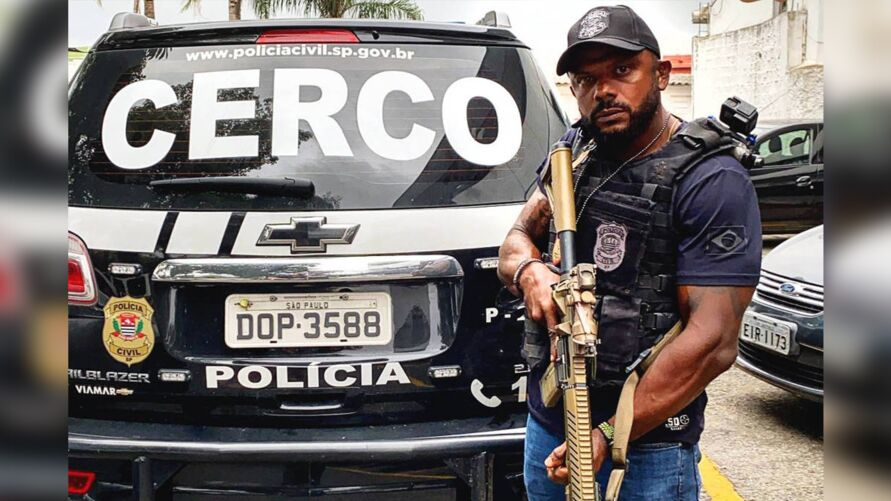O delegado da Polícia Civil de São Paulo é conhecido nas redes sociais com divulgação de vídeos de ações policiais