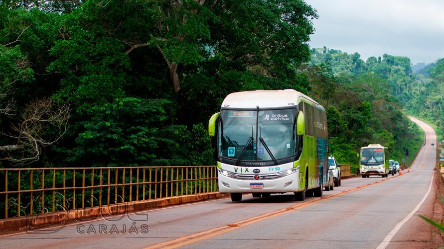 O ônibus foi montado em Campinas (SP), na fábrica da BYD e foi adquirido pela Vix, empresa de transporte que atende a Vale
