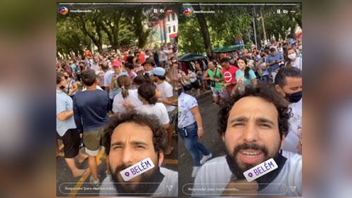 Murilo Couto excluiu o vídeo em que ironizava o Círio de Nazaré.