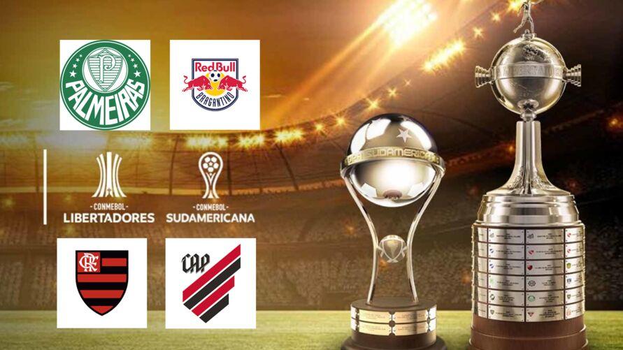 Times brasileiros disputam finais das maiores competições das américas