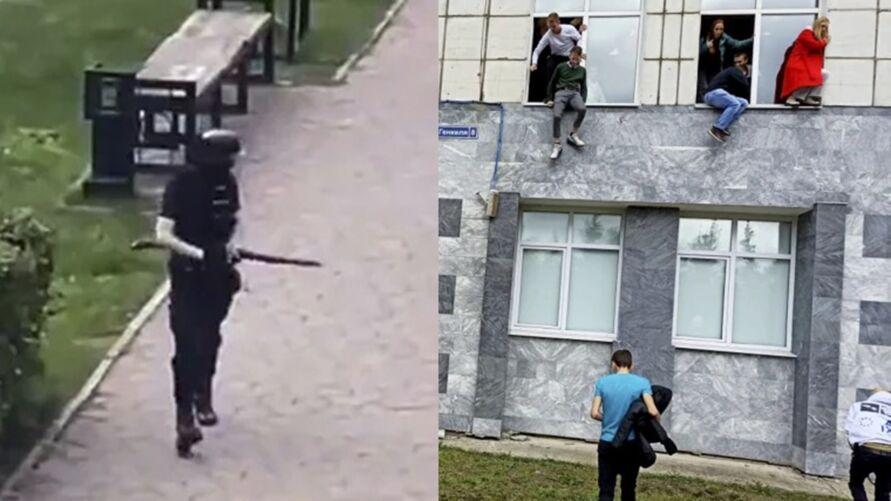Imagem ilustrativa da notícia: Imagens fortes! Assassino mata 8 em universidade; assista!
