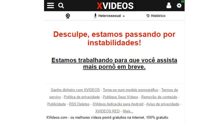 Imagem ilustrativa da notícia: Xvideos também cai e deixa usuários na mão