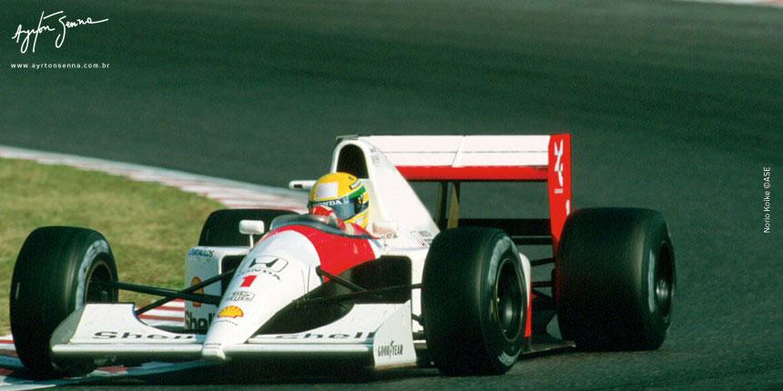 Senna conquistou o tricampeonato. Último título do país na F1