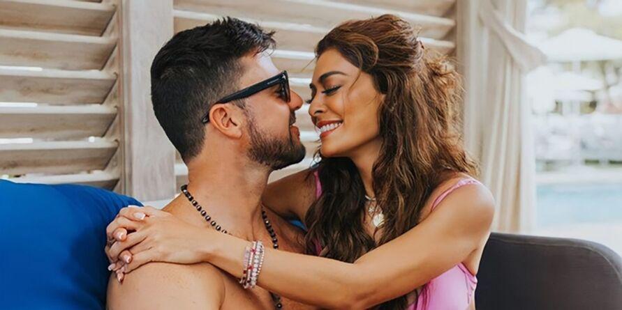 Juliana Paes e o marido, Carlos Eduardo Baptista.
