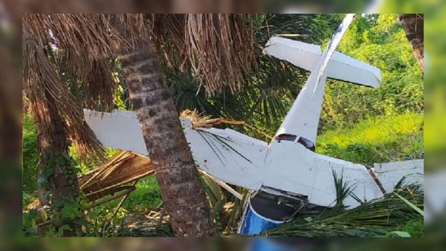 Avião caiu a pouco metros do ponto de destino