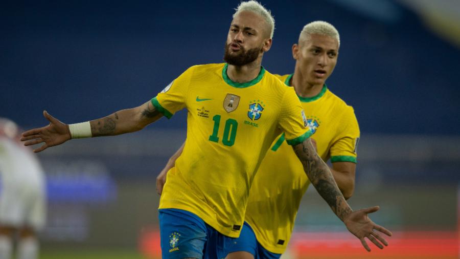 Neymar e Richarlison marcaram na goleada brasileira.