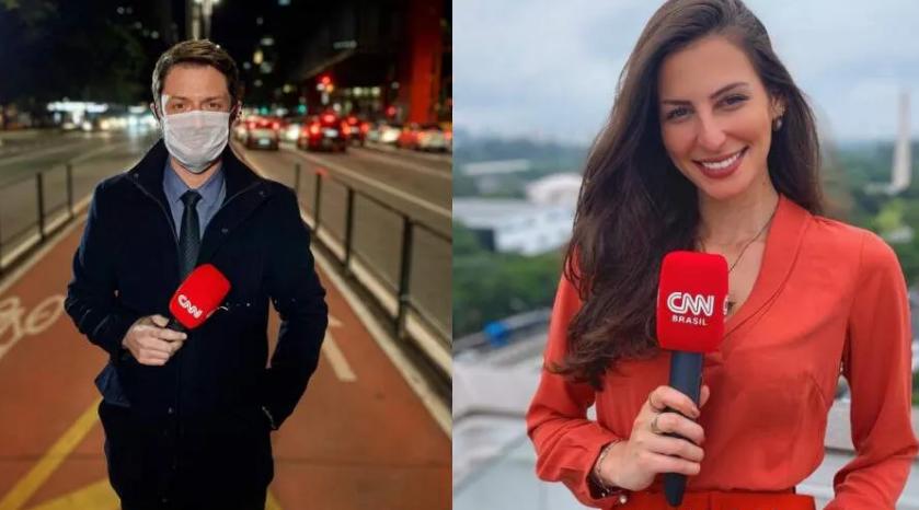 Fiuza e a colega de emissora Iara Oliveira sofreram acidente de trânsito fora do horário de trabalho, em São Paulo
