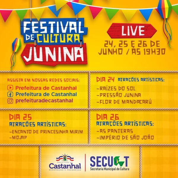 Imagem ilustrativa da notícia: Castanhal promove festival junino online