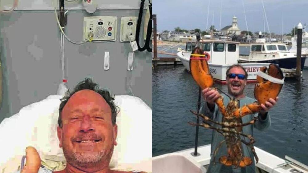 Michael Packard é pescador e sofreu o incidente na semana passada