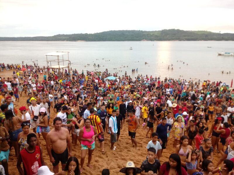 Imagem ilustrativa da notícia: Abertura do verão causa aglomeração em praia de Tucuruí