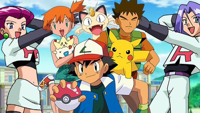 Os personagens do desenho animado Pokemon