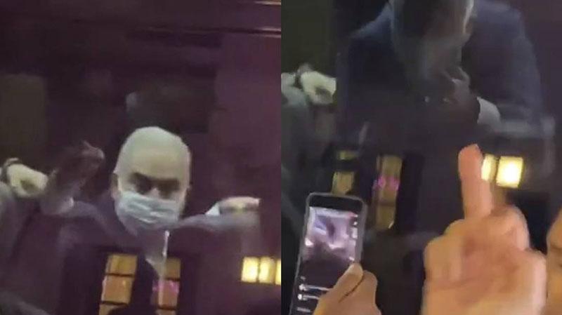 Queiroga mostrou o dedo do meio a manifestantes que protestavam contra o governo