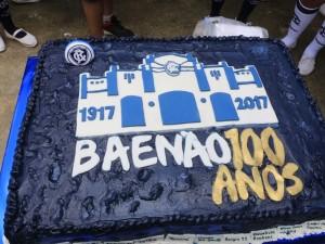 Torcida azulina festeja 100 anos do Baenão