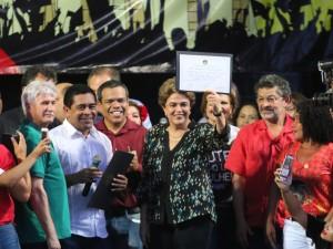 Dilma Rousseff participa de ato em Belém