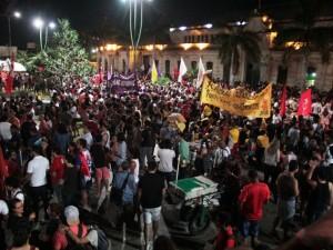 Protesto em Belém pede a saída de Temer e eleições diretas