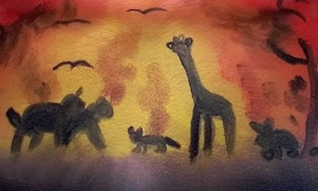 Girafa em pintura no corpo deu início à polêmica