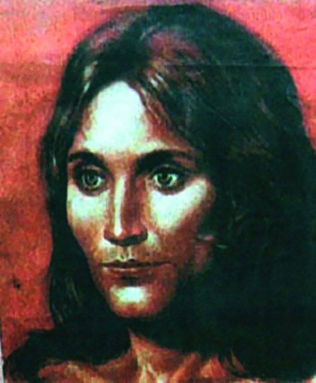 """Representação artística de como a aparência de """"La bella de Loulan"""" poderia ter sido."""