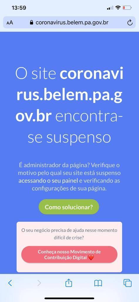 Prefeito tirou do ar depois da denuncia no Diário do Pará/DOL