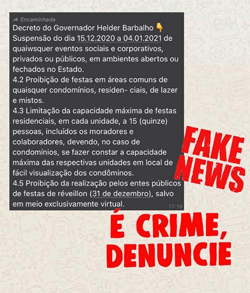 Mensagem aponta que se tratam de medidas do Governo do Pará, o que não procede.
