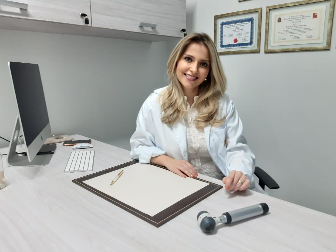 Dra. Gabriela Foltran, dermatologista do Hapvida.