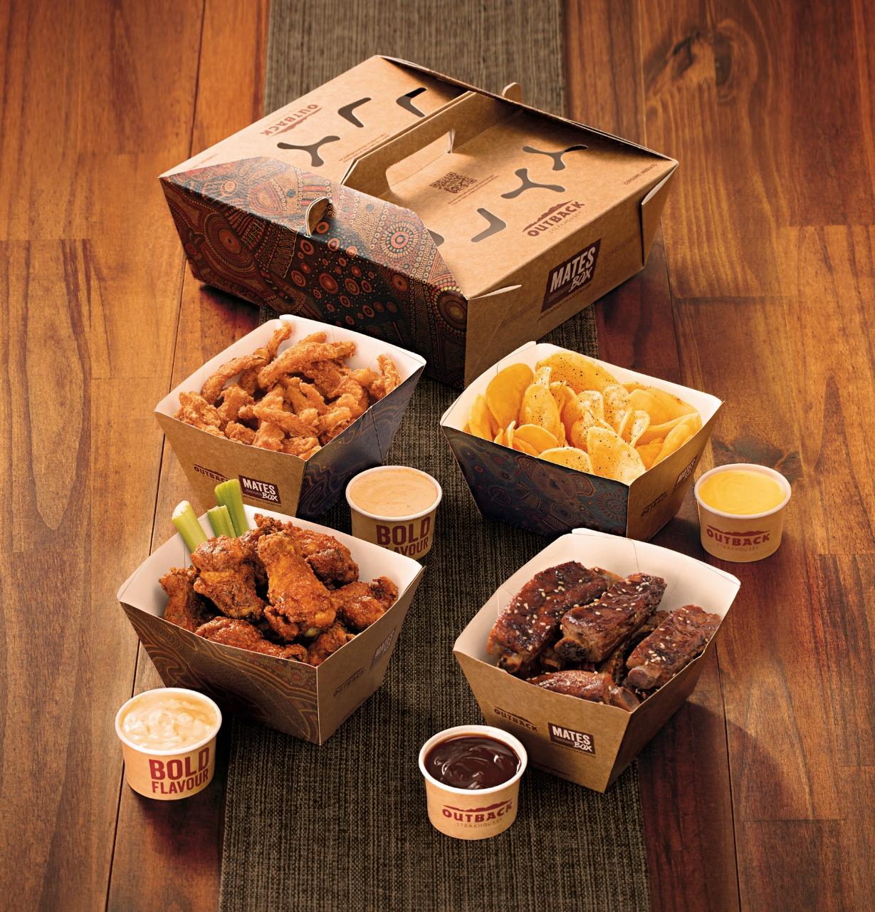 Outback lança box generoso que reúne aperitivos icônicos e serve até seis pessoas via delivery