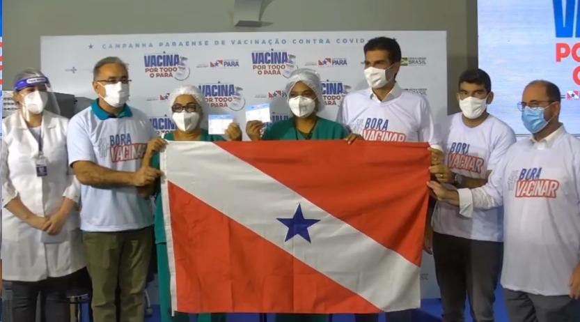 Estiveram presentes o vice-governador Lúcio Vale, o prefeito de Belém ,Edmilson Rodrigues e o prefeito de Ananindeua, Dr. Daniel