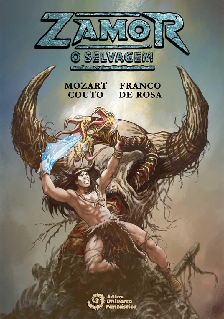Arte da capa de Zamor, o Selvagem!