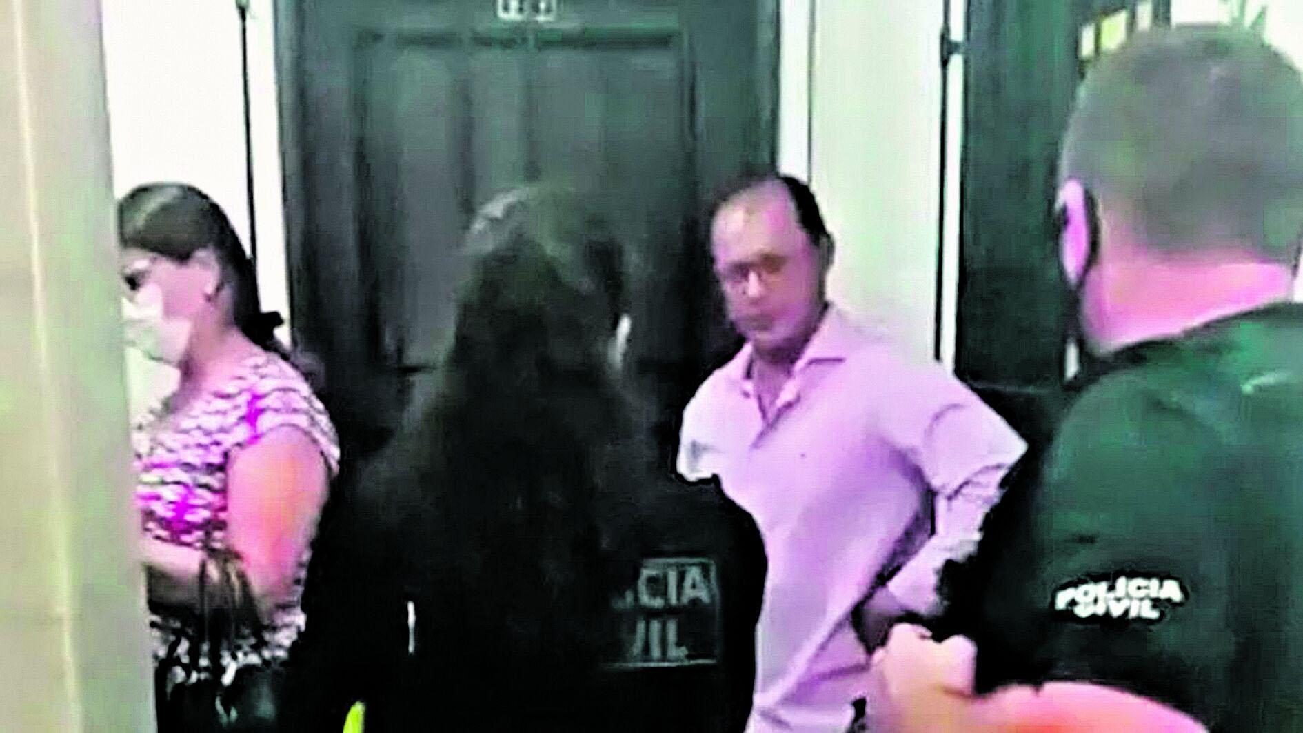 Geomárcio Alves, subordinado ao chefe do MPE, durante operação policial que investigava Sérgio Amorim