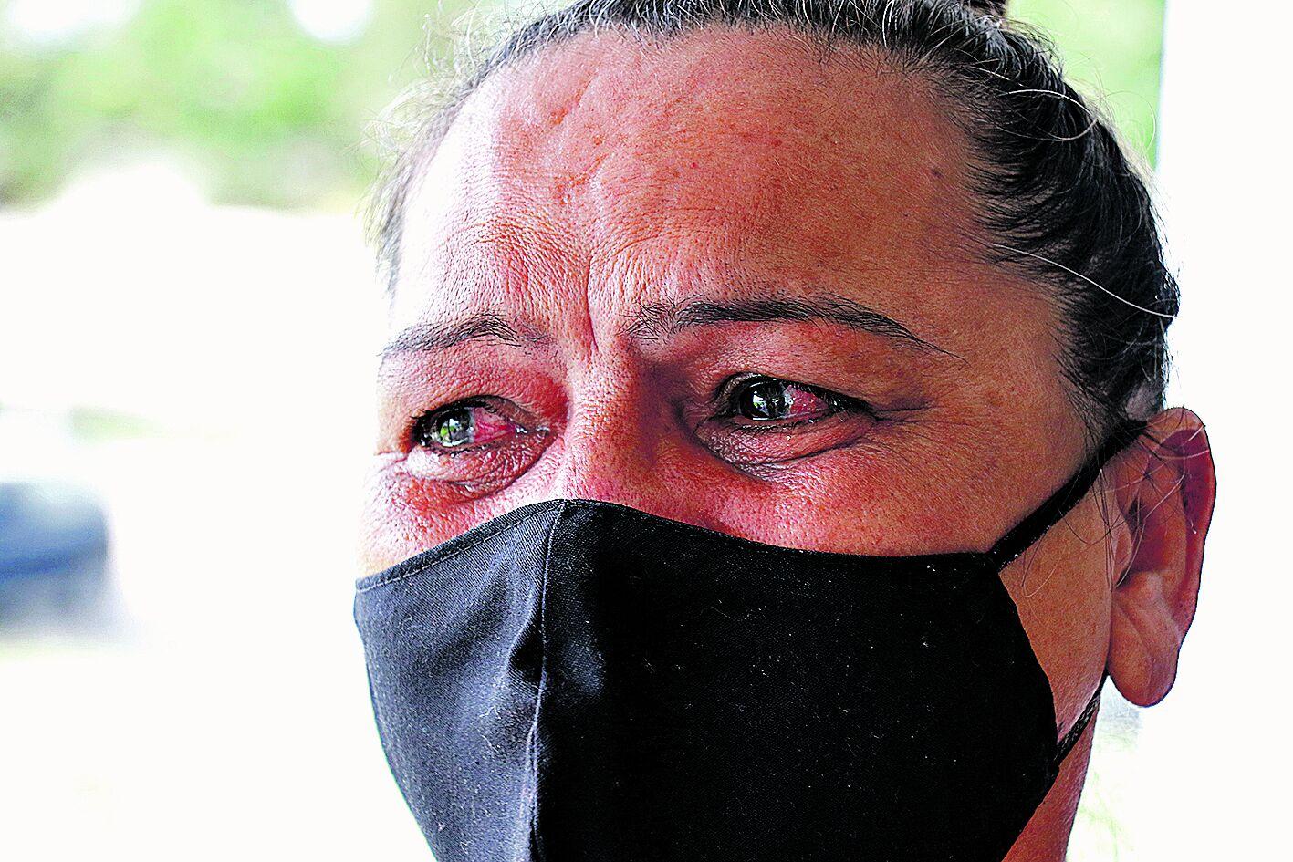 Maria de Fátima Rodrigues emocionada