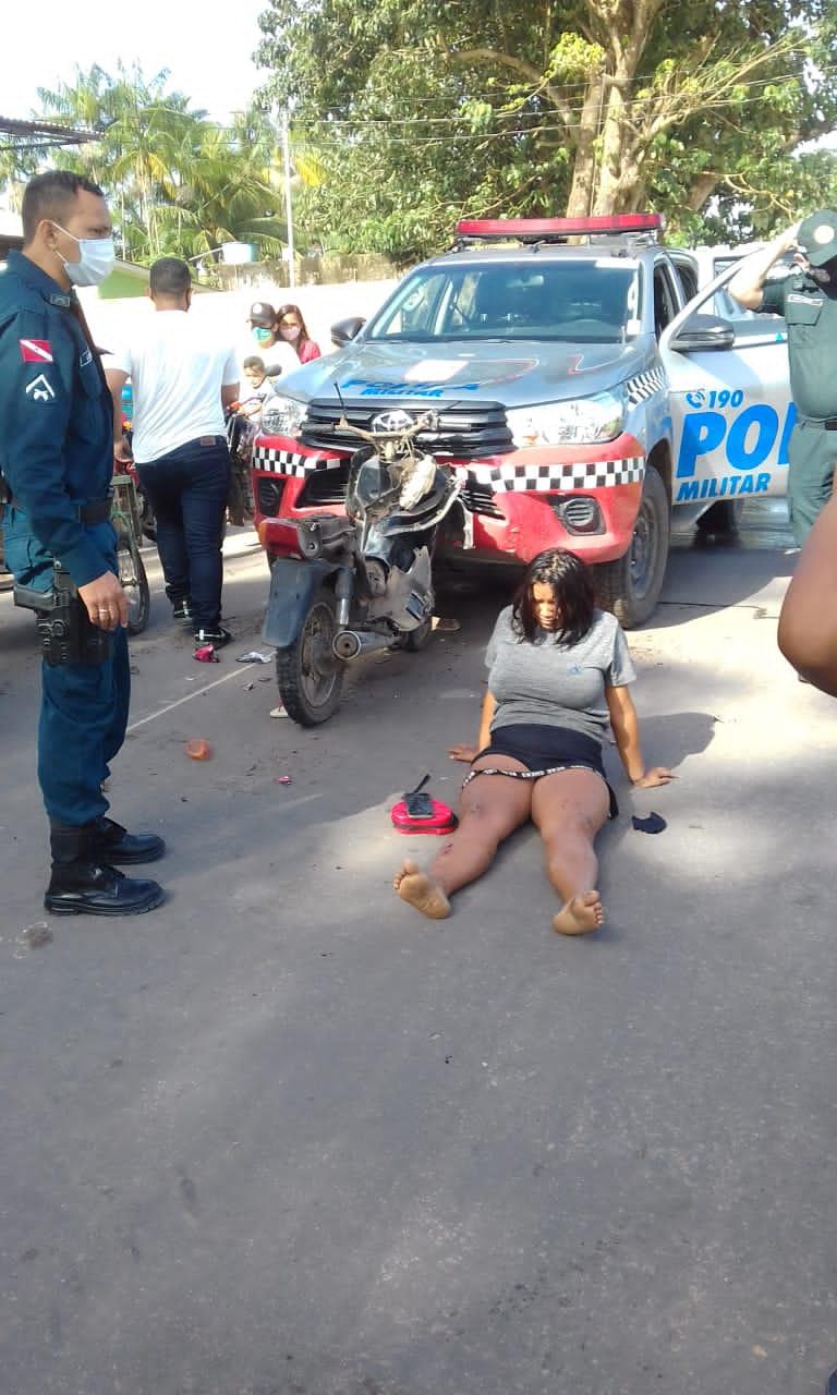 A mulher não teve ferimentos graves