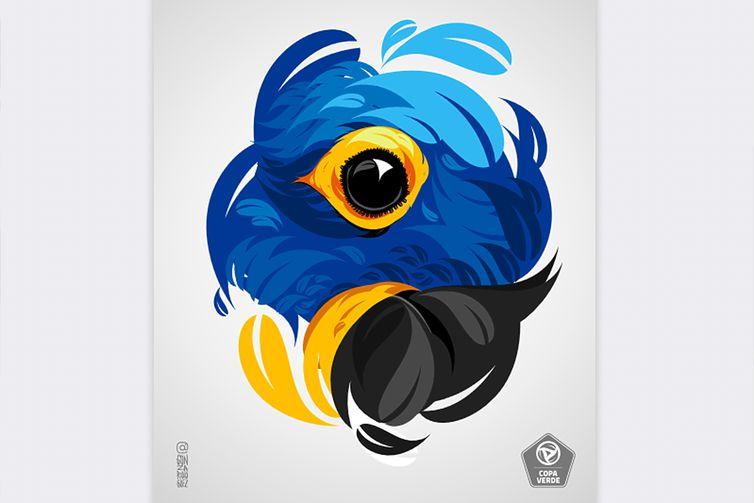 Nos aos de 1980, de acordo com o Instituto Arara Azul, mais de dez mil aves da espécie foram retiradas da natureza devido à captura para comercialização e coleta de penas para souvenirs.-