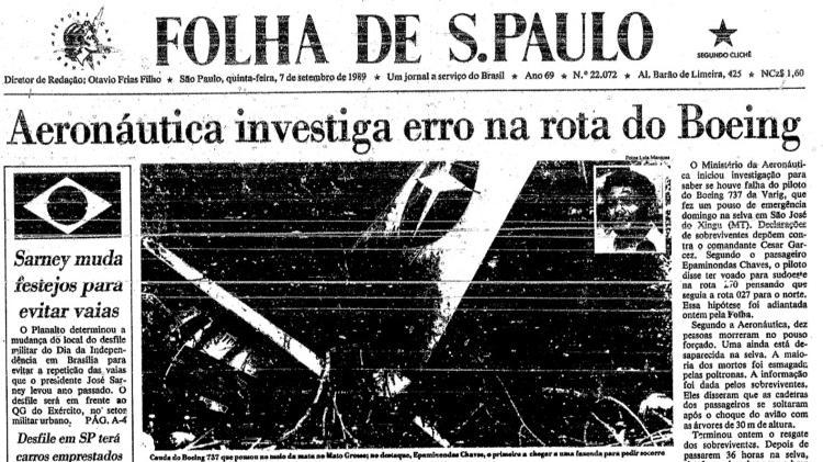 Acidente aconteceu em 3 de setembro de 1989