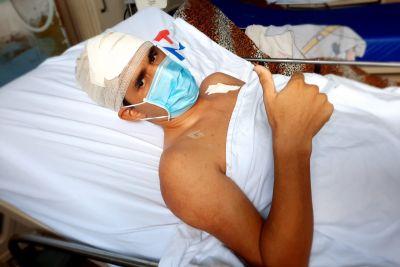 """Lucas Dutra, após cirurgia: """"Tenho esperança de ter uma vida nova"""