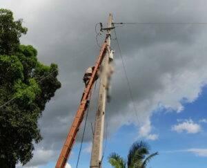 Sandro Gomes Pinho foi eletrocutado tentando fazer ligação elétrica