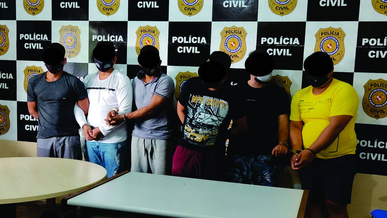 Os presos foram identificados como: Carlos Marachin Antunes, Adil Antoni Martinez, Jonatan Gerdoba Medina, Marcos Regifo Belins, Diego Sovendra e Almir Rolim Peixoto